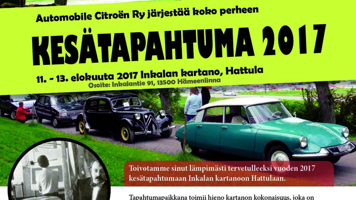 Citroën-kerhon kesätapahtuman julisteesta rajattu osa.